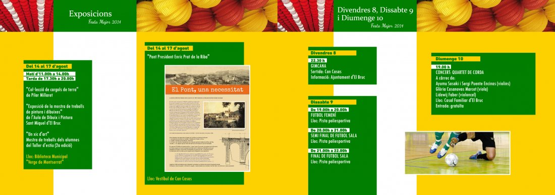 Programa Festa Major del Bruc 2014