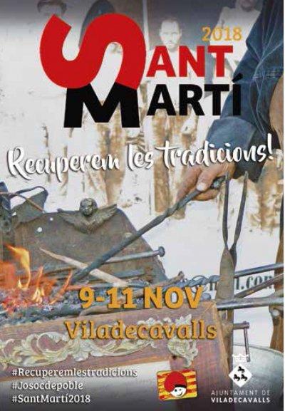 Cartell Viladecavalls - Sant Martí. Recuperem les tradicions