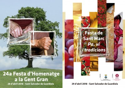 Programa Festa de Sant Marc a Sant Salvador de Guardiola 2018