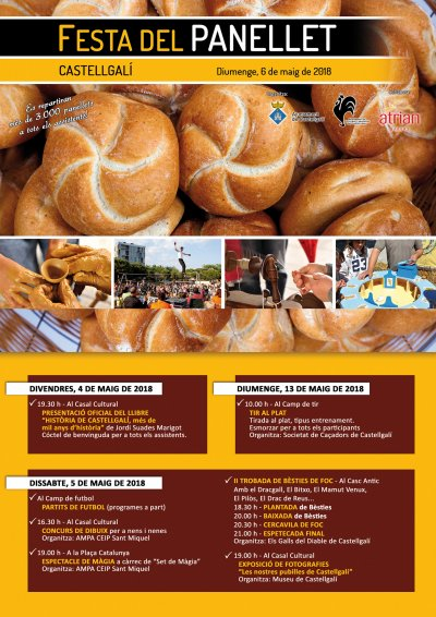 Programa de la Festa del panellet de Castellgalí 2018