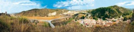 Plànols de promoció turística i fulletons - Panoràmica Castellfollit de Riubregós