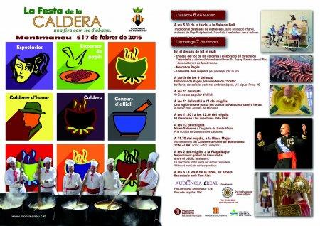 Programa de la Festa de la Caldera de Montmaneu 2016