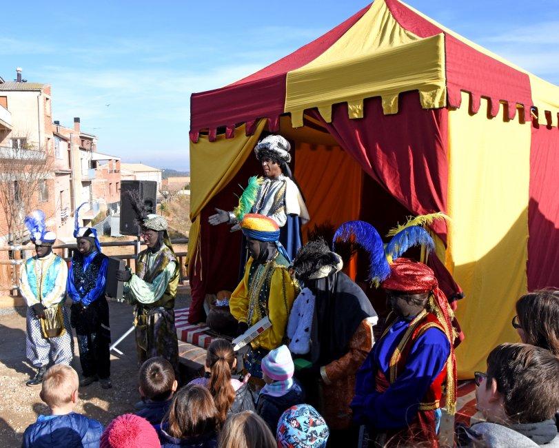 """Arribada del Patge Reial """"Artaban"""" a Sant Salvador de Guardiola"""