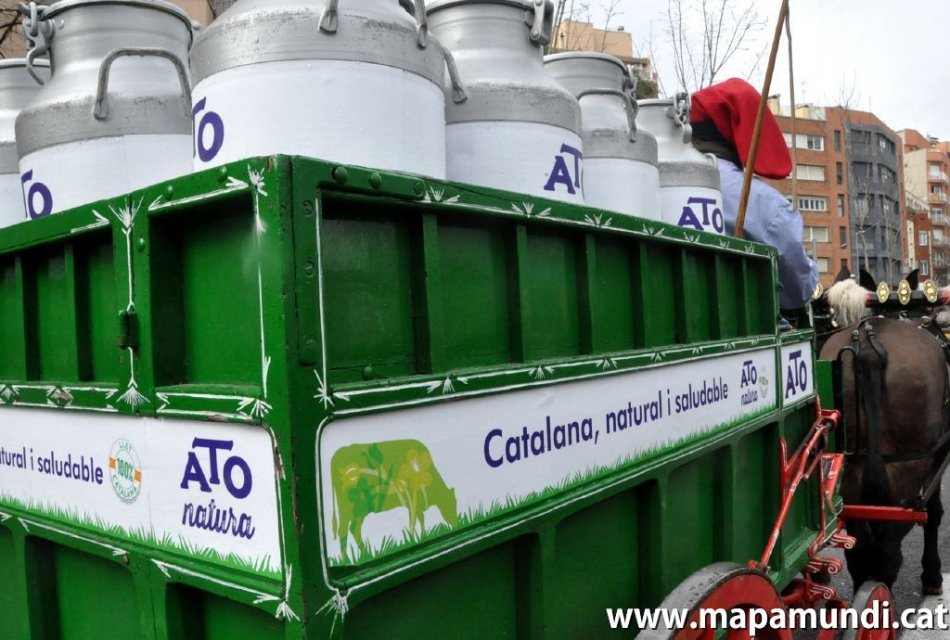 El Carro de llet ATO als Tres Tombs de Catalunya