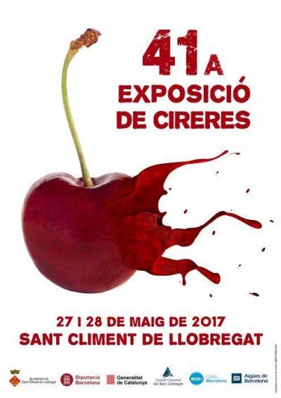 Cartell 41a Exposició de Cireres de Sant Climent de Llobregat