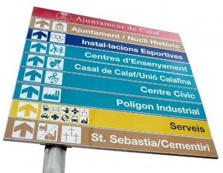 Senyalitzacions urbanes, Calaf