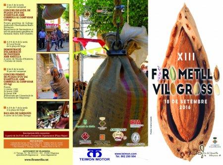 Programa de la Fira de l'Ametlla de Vilagrassa 2016