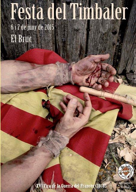 Cartell de la Festa del Timbaler del Bruc 2015